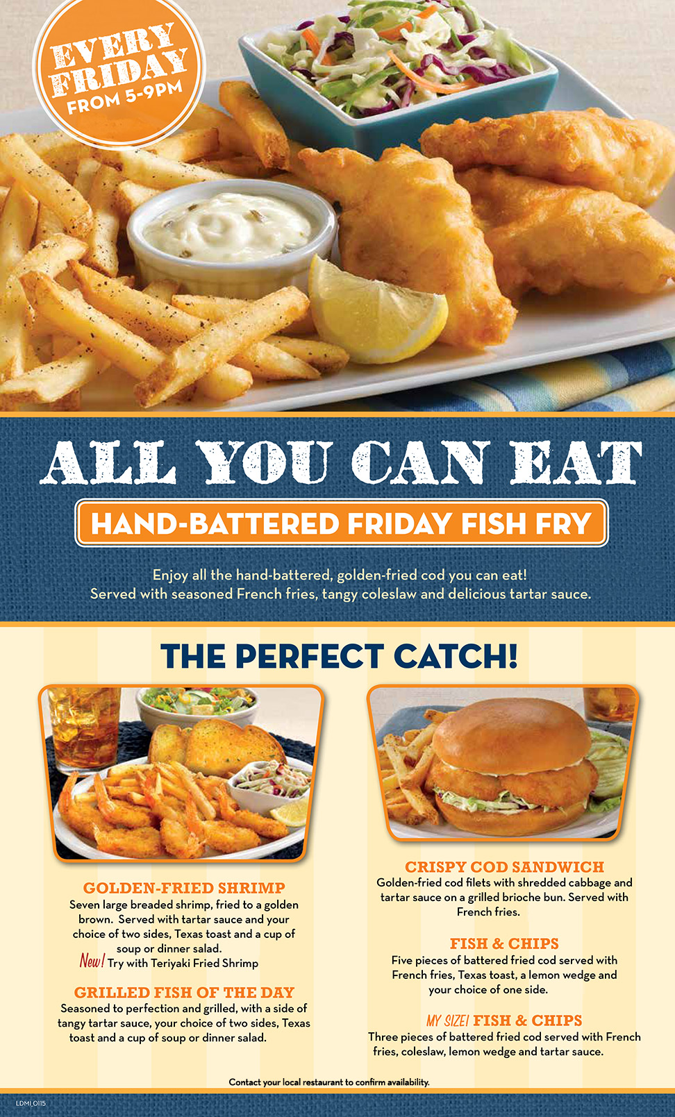 Village inn all you can eat fish fry for Fish fry menu