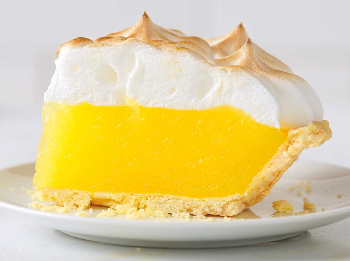 ... meringue that sits on top of an irresistible, tangy lemon filling