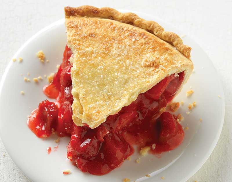 ... as strawberries and rhubarb come together to form a most perfect pie